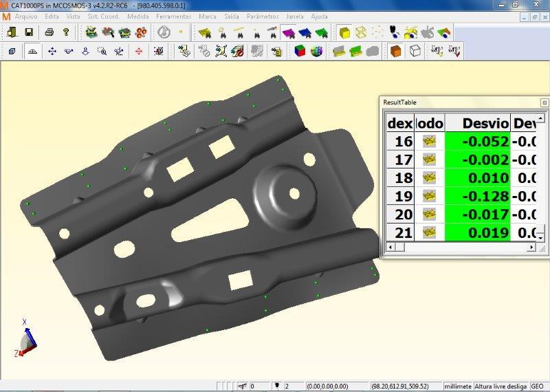 Sistema de medição de peças